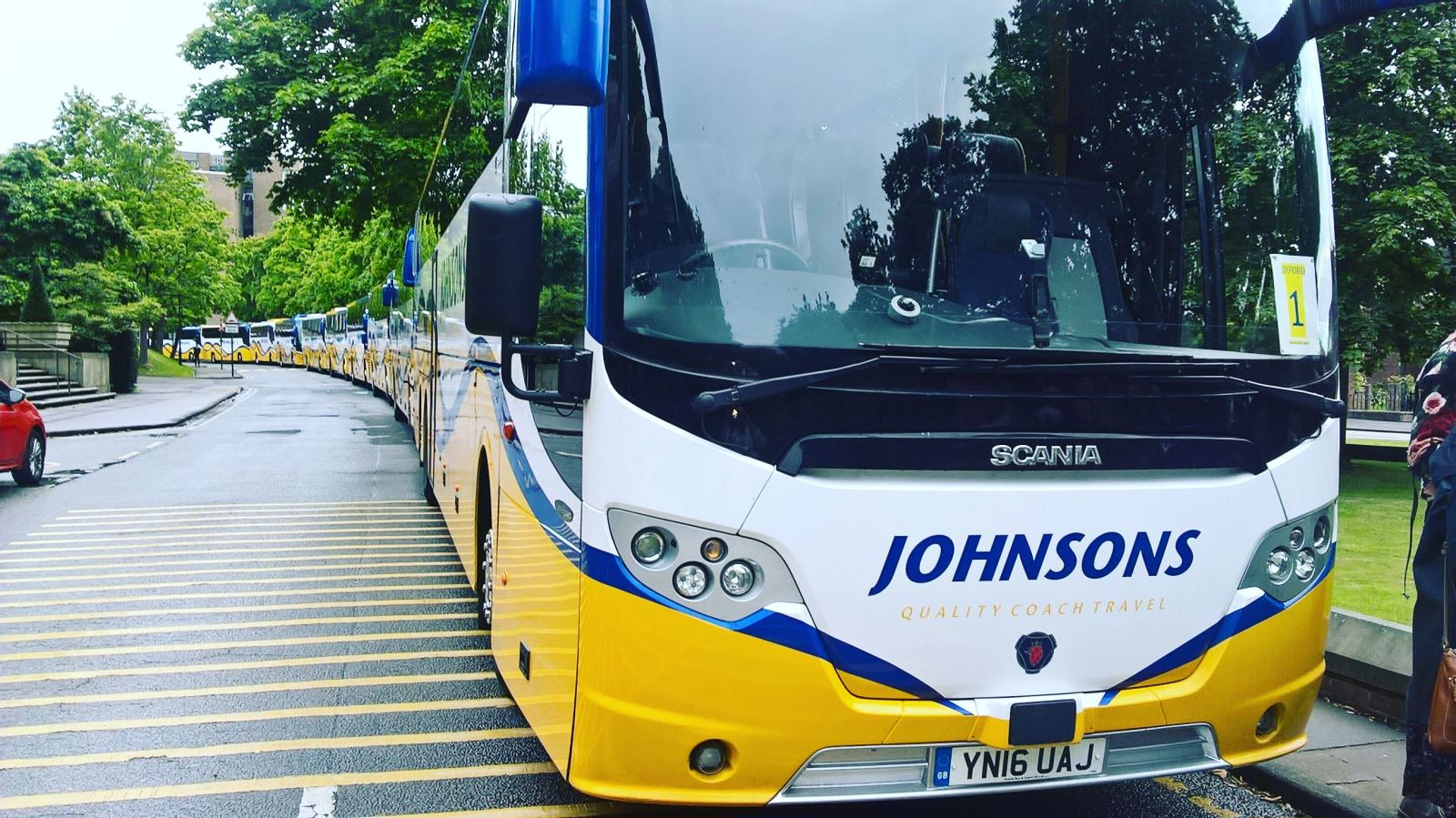 Johnsons Coaches at Birmingham University