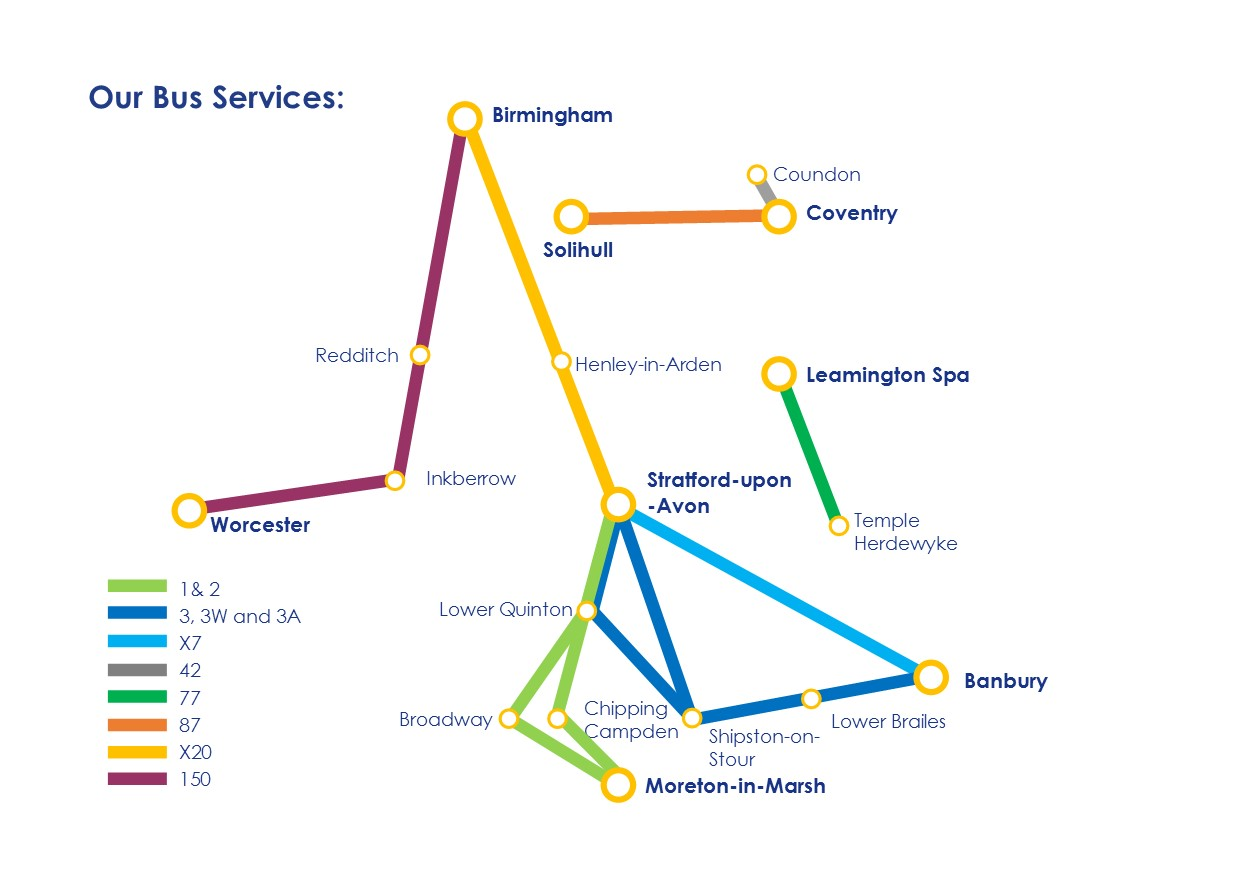 Johnsons Exelbus Route Map Sept 2017